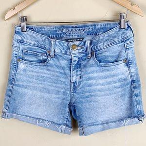 AE Super Stretch Midi Jean Shorts Size 8